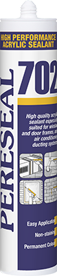 Pereseal 702 Acrylic sealant for ducts
